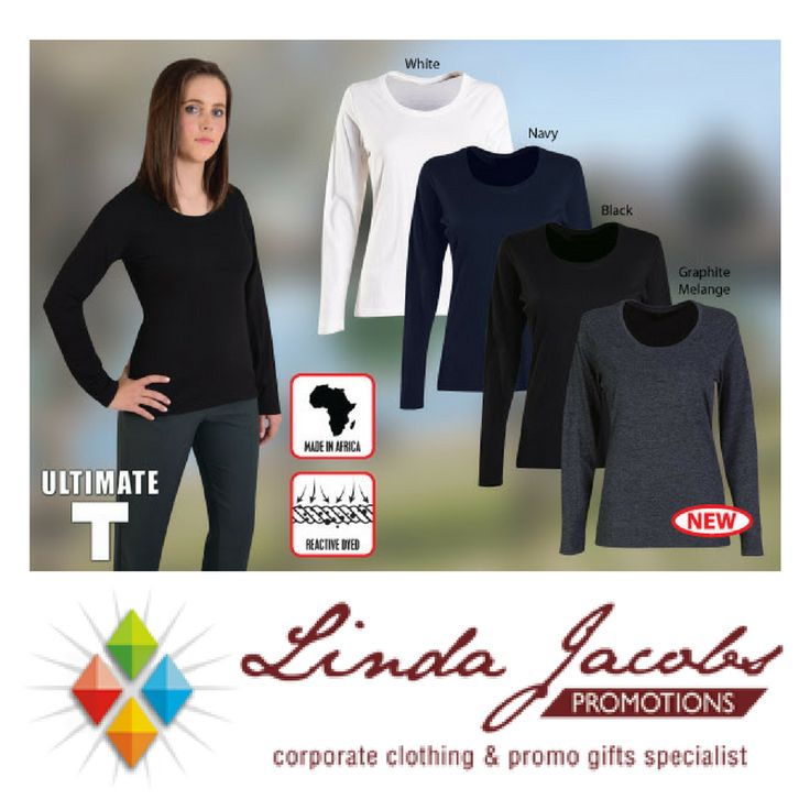 New Ladies Long Sleeve Graphite melange Fashion Fit T - with autumn🍁 around the corner, a comfortable long sleeve T-shirt is never a bad idea! Enjoy ULTIMATE T's new graphite melange colour option now available!  White, Navy & Black options are made from 100% cotton and Graphite Melange is made from polycotton. See more products on our website - http://www.lindajacobspromotions.co.za/ Email: linda@lindajacobspromotions.co.za Call us - 083 6280181 | 021 557 2152
