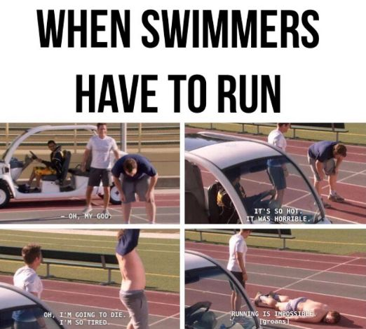 Doing dryland like: | Literally Just 28 Pictures That All Swimmers Will Find Hilarious