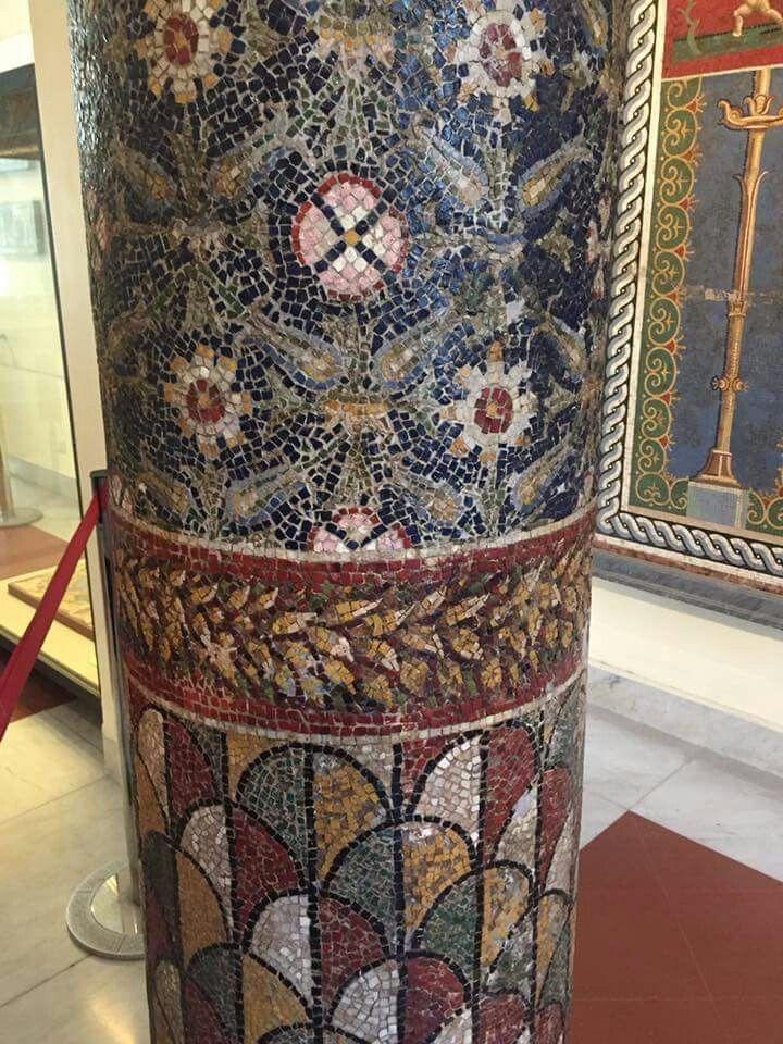 Mosaic columns from Pompeii.
