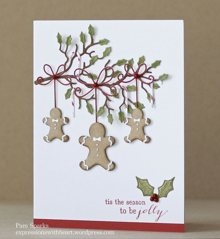 Memory Box, Pam Sparks, Precious Gingerbread men die,  Holly branch and more