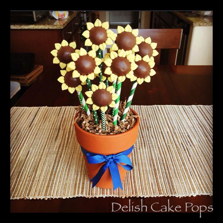 Sunflower cake Pops From Etsy shop Delish Cake Pops