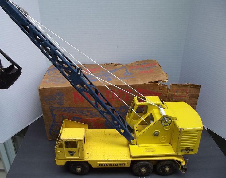 Tonka Toy Trucks >> Vintage 1950's Nylint Michigan Crane Pressed Steel Crane Truck With Original Box | Trucks ...