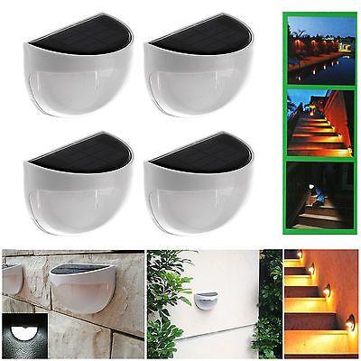 4 x 6LED Solarleuchte Außenleuchte Wandlampe Gartenleuchte Lampe für Haus Zaunsparen25.com , sparen25.de , sparen25.info