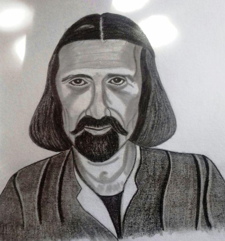 Júlio Pereira. Pencil drawing.