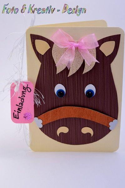 Pferdeparty - Einladungskarte - Kindergeburtstag von Foto&Kreativ-Design auf DaWanda.com