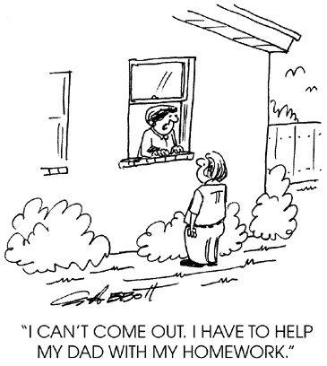 cartoons parents doing homework | GW Admissions Student Blog: October 2010