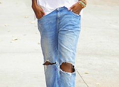 10 ways to wear boyfriend jeans. Just got a really cute pair from old navy. So many cute ideas.