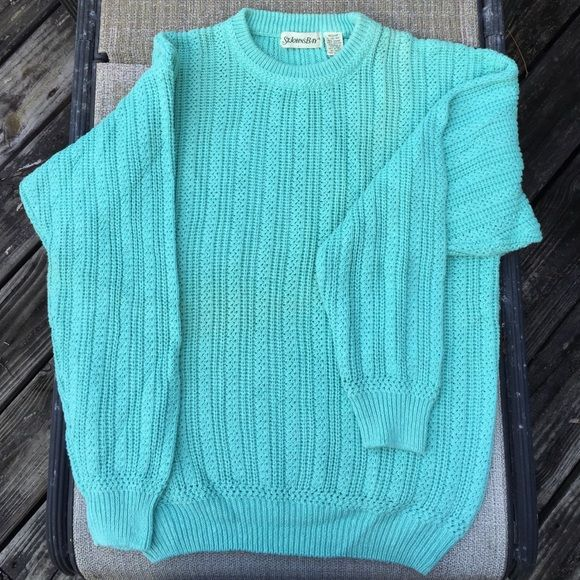 CLOSET CLEAR OUT ST. JOHN'S BAY vintage sweater. Lovely turquoise Vintage sweater by ST. JOHN'S BAY. Good vintage condition. Machine wash. Vintage Sweaters Crew & Scoop Necks
