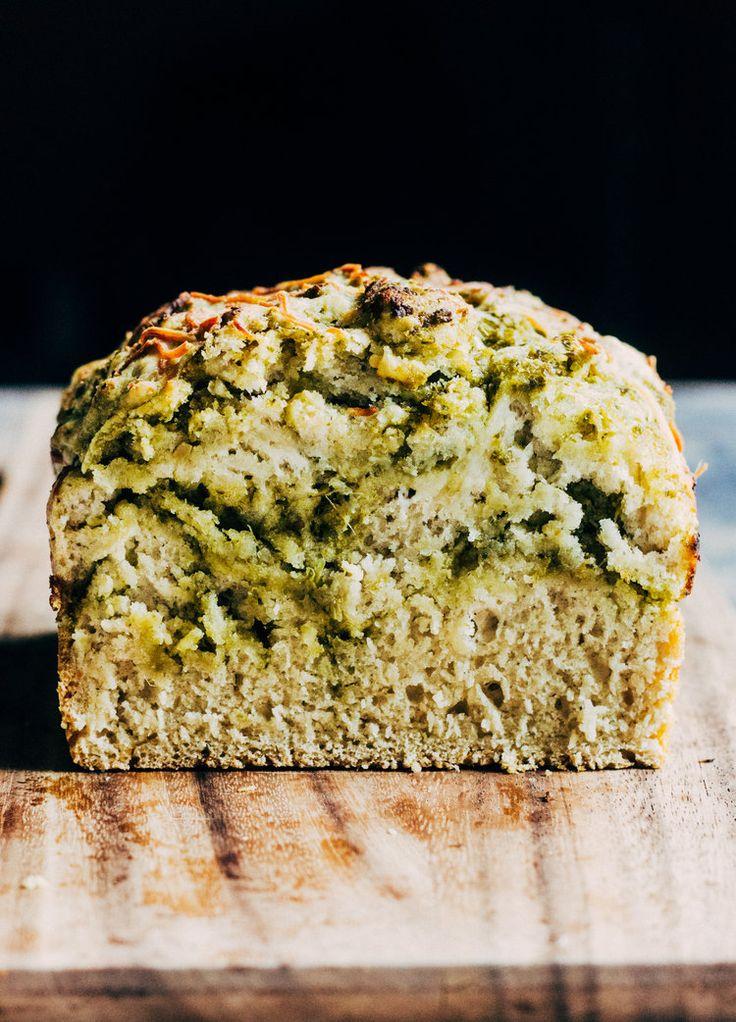 Parmesan Pesto Swirled Beer Bread — The Whole Bite