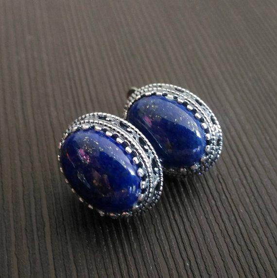 Earrings Lapis Lazuli Blue Natural Stone Silver Ring Carved Etsy Lapis Lazuli Blue Lace Earrings Lapis Lazuli