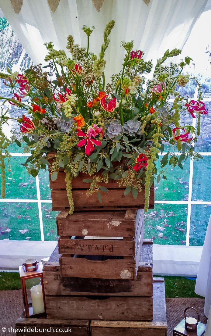 Large Scale Rustic Wedding Designs Like This Crate Stack Work Brilliantly In Marquees Or Any Venue
