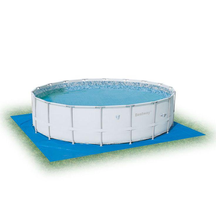 SWIMMING POOL SET BLUE KIDS STAY PLASTIC UNDER SHEET WATERPROOF FREE ...