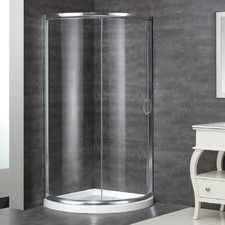 Superior Neo Angle Door Round Shower Enclosure With Shower Base