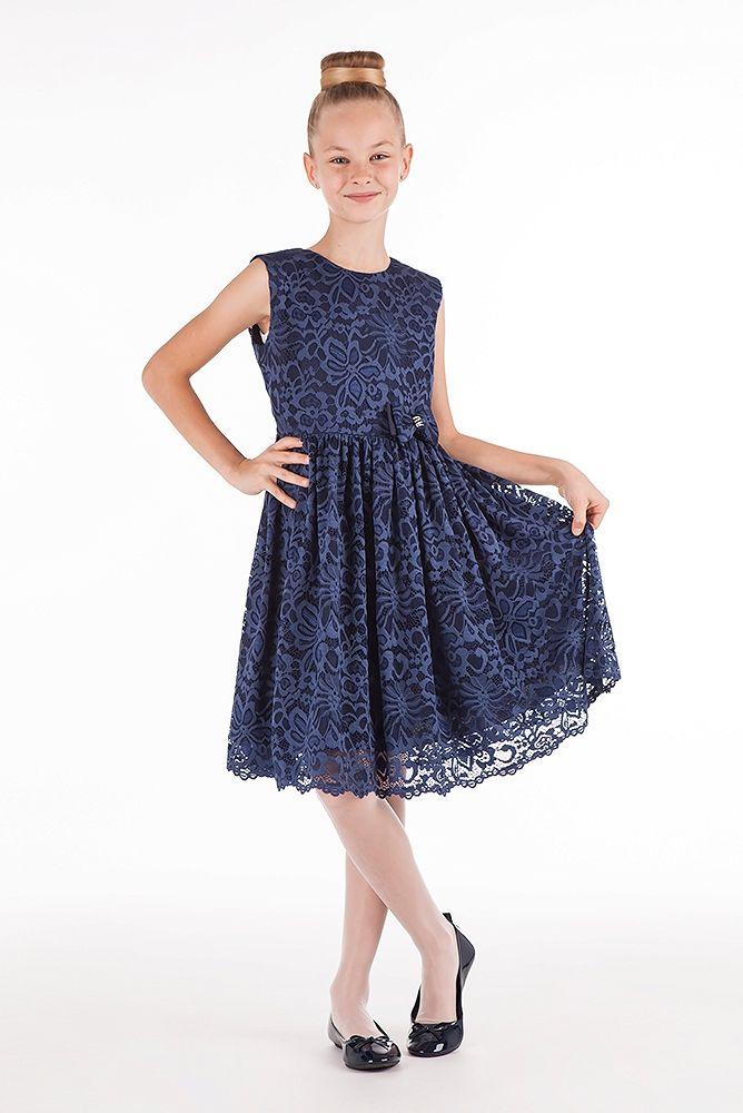 cae225be17 sukienki dla dziewczynek - sukienka koronkowa granatowa