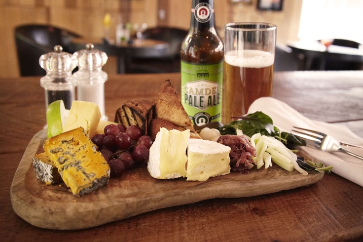 Gourmet ploughman's platter & beer for lunch at The ...