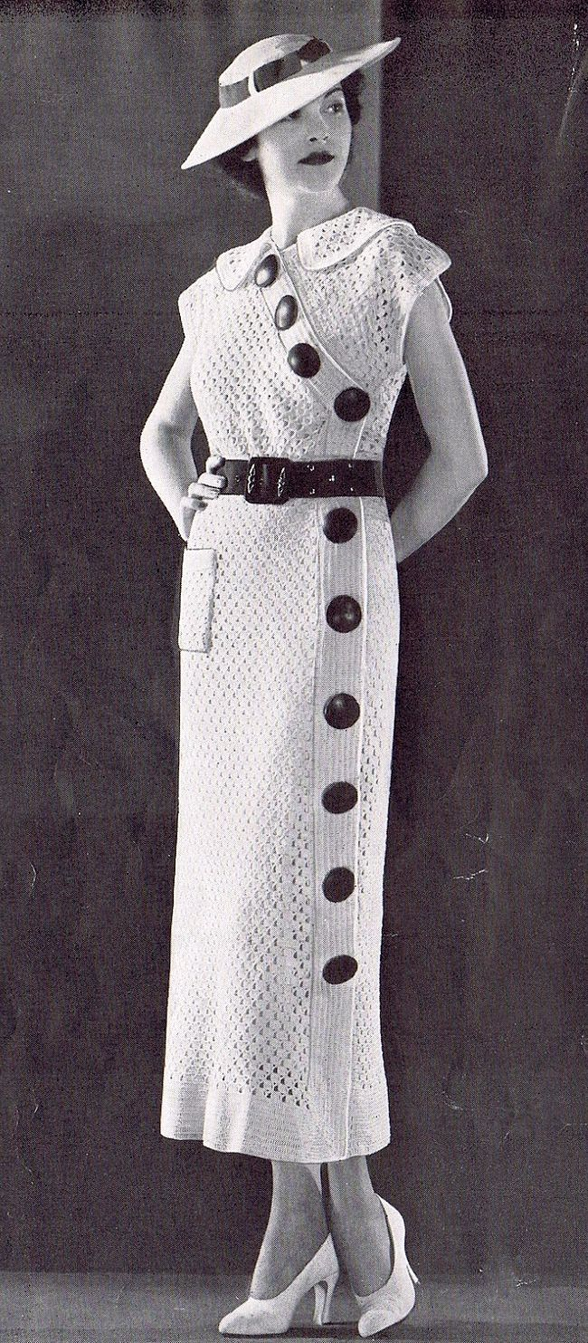 1930s sweater dress