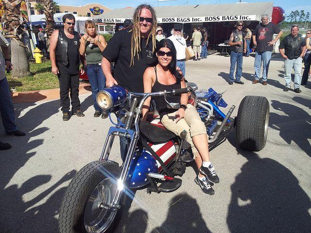 Michael Ballard Full Throttle Saloon | Michael Ballard and Angie, owner of The Full Throttle Saloon, Sturgis ...