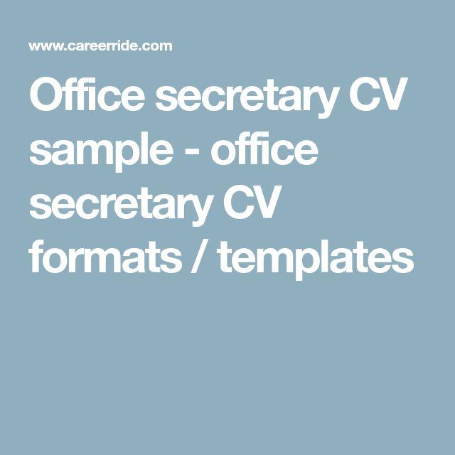 The 25+ best Cv format sample ideas on Pinterest Cv format for - hard copy resume