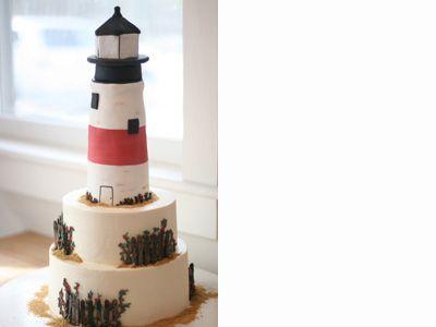 Lighthouse cake!