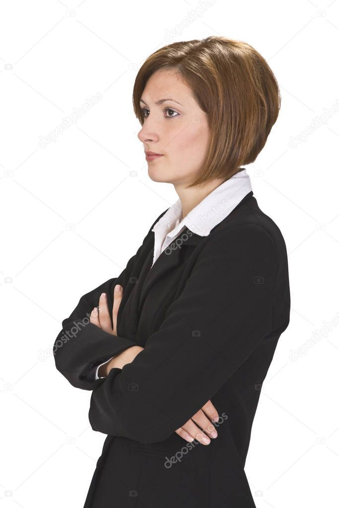 Profile Businesswoman White Background Stock Photo Ad White Businesswoman Profile Photo Ad Business Women White Background Stock Photos