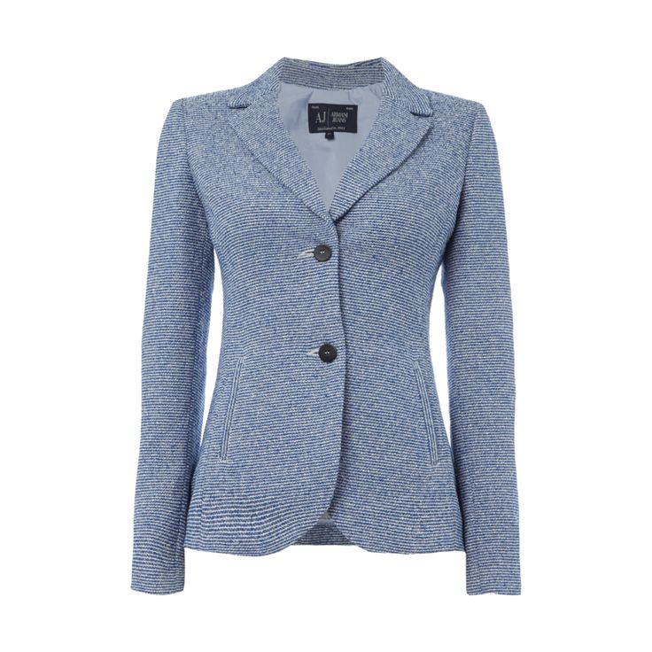 #Armani #Jeans #Blazer mit #strukturiertem #Streifenmuster für #Damen - Damen…