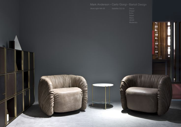 Milan Design Week 2016. 40/40 Element and Drapé Lounge Armchair by Bartoli Design | Laurameroni