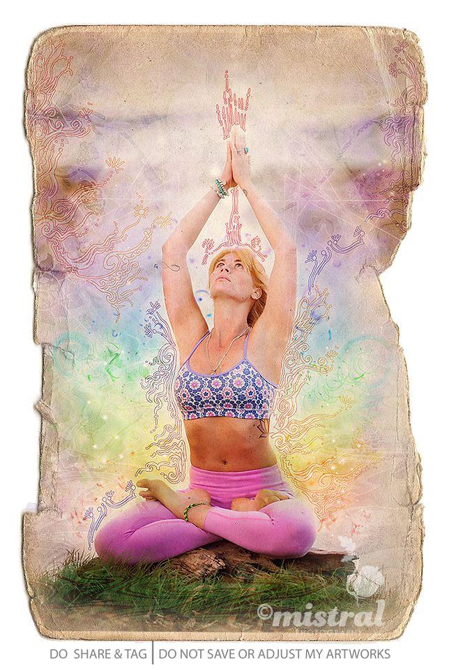 Yoga instructor Bruna with handdrawn arty bits. #digitalArt #yoga #portrait  | www.mistralphotography.co.nz |