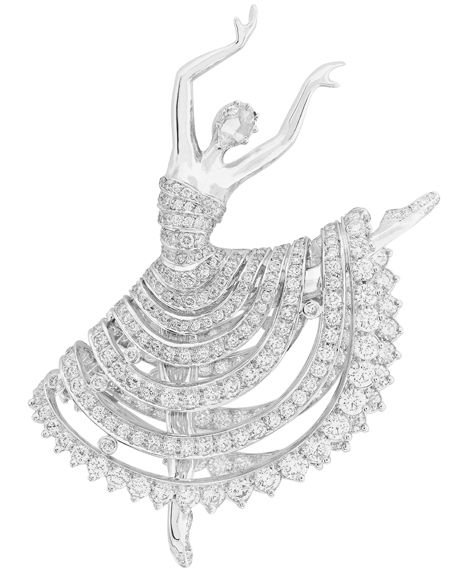 Ballet 'Reflections' Ballerina, The first ballerina clips by Van Cleef & Arpels were created in the 1940s by request of Louis Arpels