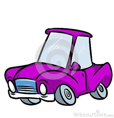 Car purple cartoon illustration  isolated image