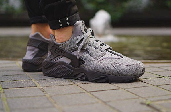 newest ff7d7 7740d Nike Air Huarache TP Tech Fleece Cool Grey   Dope Shoes   Nike air huarache,  Sneakers, Nike