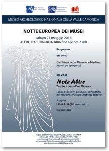 La notte europea dei musei: giochiamo con Minerva e Medusa @ Museo Archeologico Valle Camonica | Cividate Camuno | Lombardia | Italia