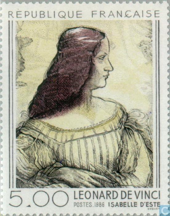 Postage Stamps - France [FRA] - Leonardo Da Vinci Drawing