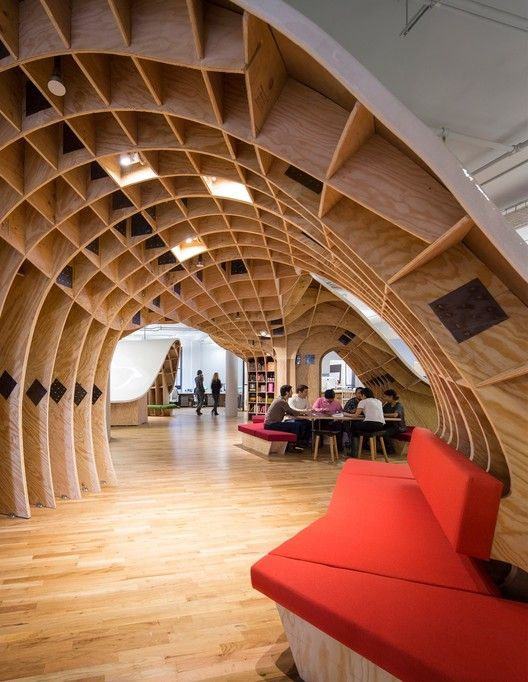 Tour a Building a Day Throughout Archtober,The Barbarian Group / Clive Wilkinson Architects © Michael Moran