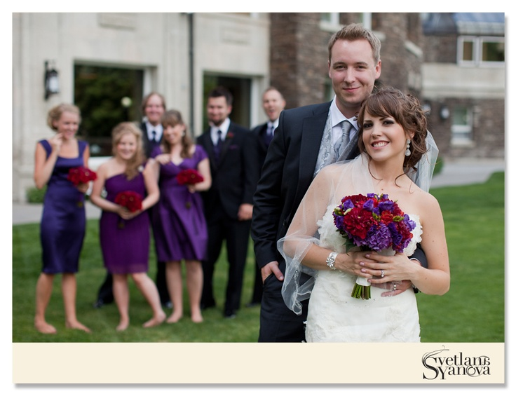 Rich, vibrant colors of red and amethyst purple were selected for the wedding! (Photo credit: Svetlana Yanova)