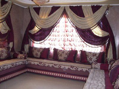 rideaux marocains salon marocain pinterest couleurs beautiful et salons. Black Bedroom Furniture Sets. Home Design Ideas
