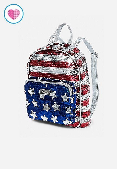 6b69df41d499 Flag Flip Sequin Mini Backpack