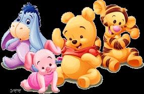 baby tigger,baby eeyore,baby pooh,baby piglet
