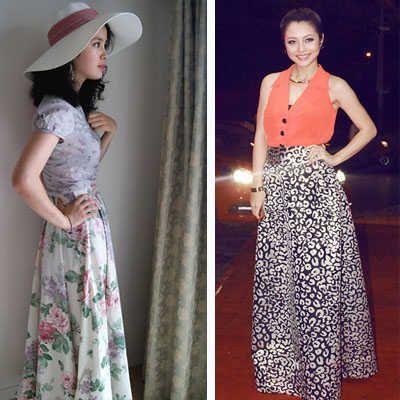 ¿Cómo combinar una falda larga? | Web de la Moda