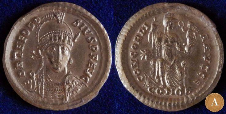 Римская империя, Феодосий II, 402-450 годы, солид. | ANDREY PYATYGIN ANCIENT COINS | Магазины | Антикварус