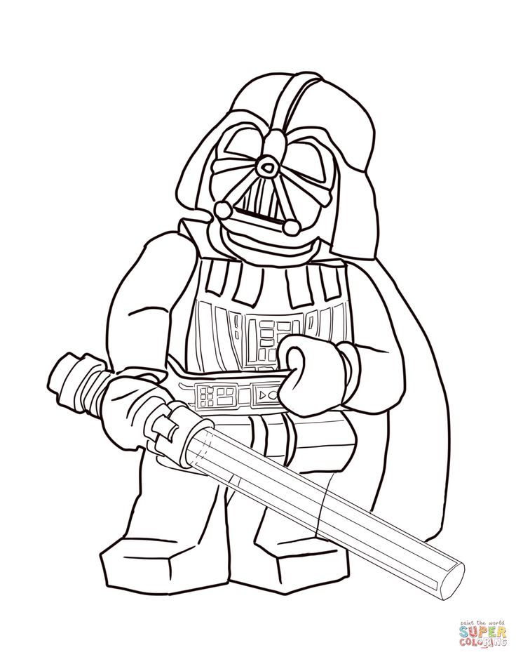 Lego Star Wars Darth Vader Coloring Pages Lego star wars ...