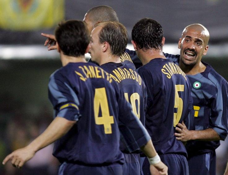 Javier Zanetti, Esteban Cambiasso, Adriano, Dejan Stankovic and Juán Sebastián Verón - Inter Milan