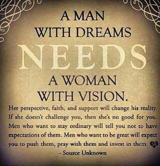 Power Couple Quotes | A Man With Dreams A Woman With Vision Power Couple 3