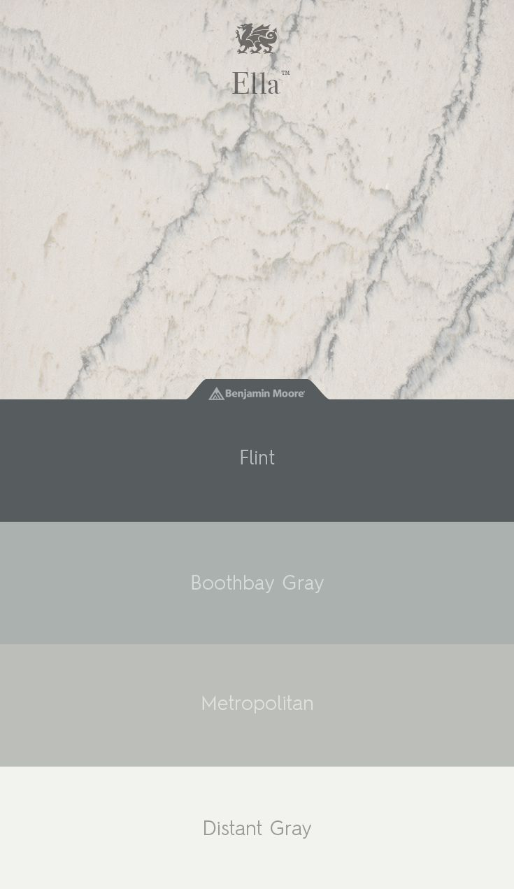 What shade is right for enhancing the lines of Ella™? Find out with @benjamin_moore paint match.
