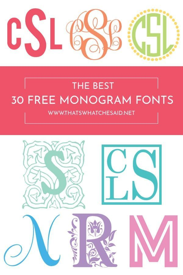 30 Of The Best Free Monogram Fonts Cricut Monogram Font Free Monogram Fonts Cricut Monogram