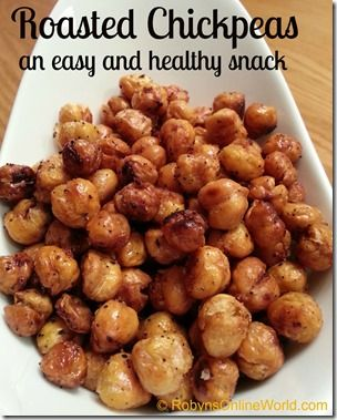 Place the dried chickpeas on a baking sheet. Drizzle with olive oil and then spread the salt, pepper, and garlic over the top. Now mix them up well to coat them all. This is how I did it last night, but I may just put them in a bowl next time for seasoning so I don't have the small spices on the cookie sheet as much which can burn easily.  Place in the oven for 15 minutes, then shake the pan well to mix them around well. Place back in the oven for another 15 minutes, then shake the pan well…