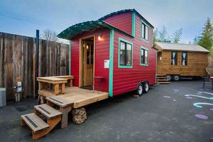 Take a Peek at America's First Tiny House Hotel: The Caboose Guesthouse