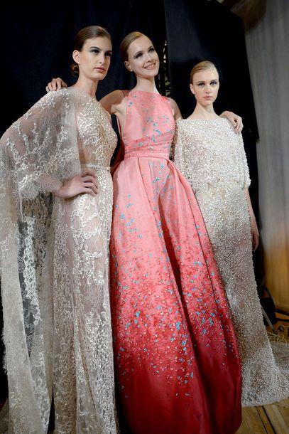 Farbe zeigen auch zur #Hochzeit - ELIE SAAB Haute Couture Autumn Winter 2014-2015 #Hochzeitskleid
