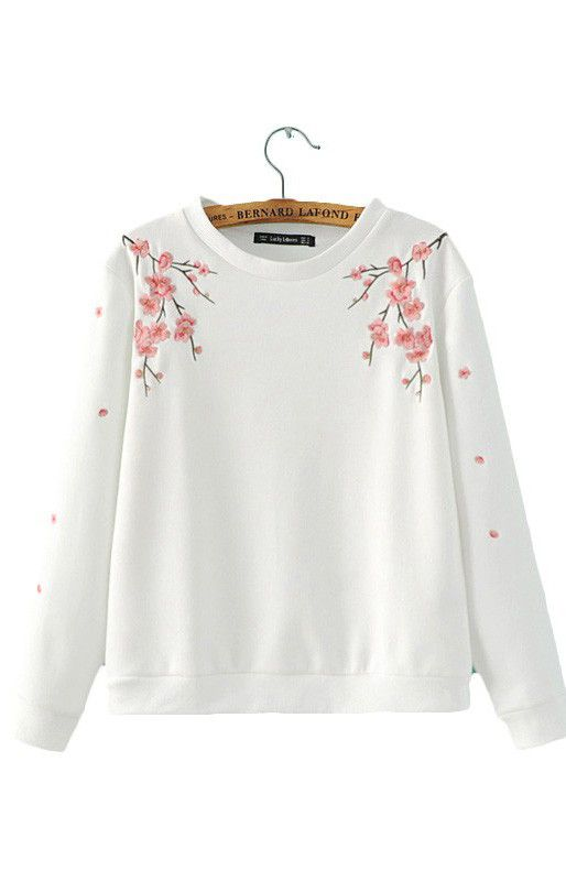 Specifications: Item Type:Hoodies,Sweatshirts Clothing Length:Regular Fabric Type:Knitted Hooded:No Collar:O-Neck Sleeve Length:Full Pattern Type:Floral Sleeve Style:Regular Style:Casual Type:Pullover