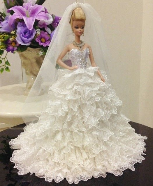 40 best images about barbie on pinterest barbie dolls for Barbie wedding dresses for sale