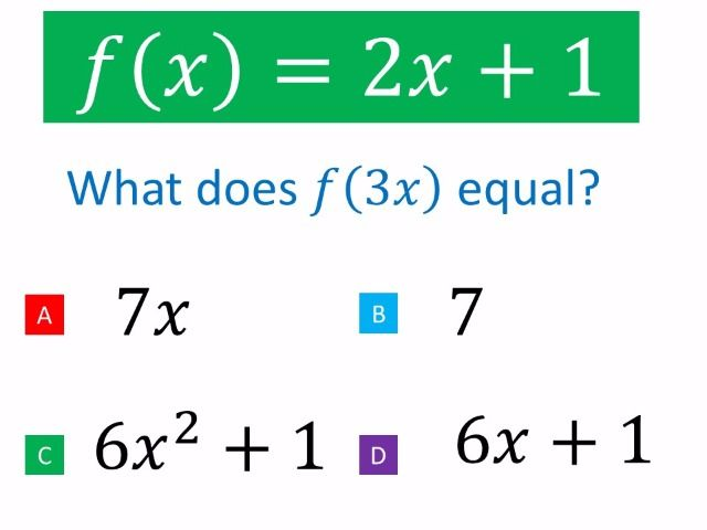 Function Notation for the new maths GCSE